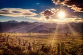 Beautiful sunset over the fertile plains in southern Croatia — Stock Photo