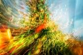 Abstract traces of light blurred movements and contrast colors — Stock Photo