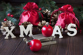 Christmas still life with bright symbols — Foto Stock
