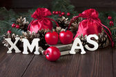 Christmas still life with bright symbols — Stockfoto
