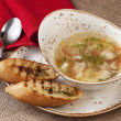 Chicken soup with vegetables and noodle — Stock Photo #69749553