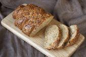 Traditional  rye bread — Stock Photo