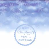 Christmas and a happy new year background — Stock Vector