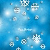 Snow abstract christmas background — Stock Vector