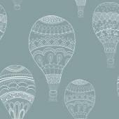 Sömlös bakgrund med ballonger — Stockvektor