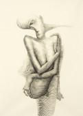 Surreal hand drawing, abstract human body decorative artwork  - Cebanenco Stanislav — Stock Photo