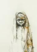 Surreal hand drawing, child decorative artwork  - Cebanenco Stanislav — Stock Photo