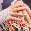He Put the Wedding Ring on Her — Stock Photo #59535657