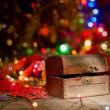 Treasure chest with Christmas decorations — Stock Photo #60005919
