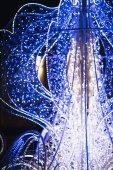 Bokeh of big christmas light tree — Stock Photo