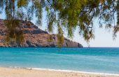 Landscape with sea views. The Island Of Crete, Greece. — Stock Photo