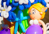 Beautiful inflatable toys - decoration for the holiday. — Stock Photo