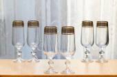 六美丽的玻璃的玻璃. — 图库照片