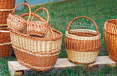 Wicker baskets for sale at the fair. — Stockfoto
