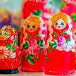 Traditional Russian toys for children - nested doll dolls. — Stock Photo #77528008