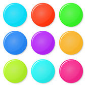 Magnets, buttons color on a white background. — Stock Vector