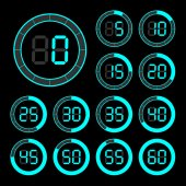 Set of icons stopwatch. — Stockvector