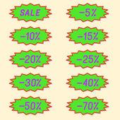 Labels discounts. — Stock Vector
