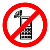 Sign forbidding to use the phone. — Stock Vector