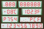 Electronic scoreboard clock and thermometer. — Vetor de Stock