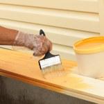 mantenimiento de superficies de madera — Foto de Stock   #63430021