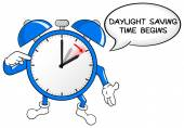 Alarm clock change to daylight saving time  — Stock vektor