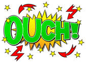 Comic sound effect ouch — Stock Vector
