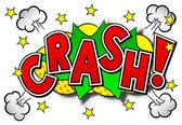 Comic sound effect crash — Stock Vector