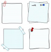 Notepads — Stock Vector