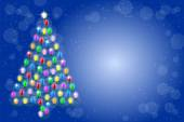 Christmas tree from a string of lights — Stock Vector