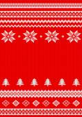 Red and white knitted background — Stock Vector