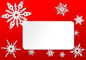 纸折纸圣诞雪花卡 — 图库矢量图片
