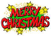 Merry Christmas comic speech bubble — Stock Vector