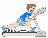 Exhaustive treadmill workout — Stock Vector