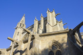 Medieval gothic cathedral — Stock Photo