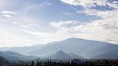 Foggy Pyrenees mountains — Stock Photo