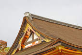Red shinto temple detail — Stock Photo