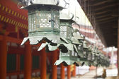 Shinto old metal lamps — Stock fotografie