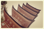 Red old pagoda — Stock Photo