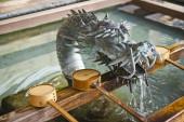 Japanese shinto dragon symbol — Stock Photo