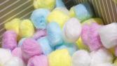 Renkli pamuk topları — Stok fotoğraf