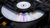 Inside an optical disc drive — Stock Photo