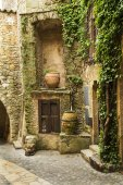 Medieval village street details in Pals, Catalonian landmark — Stock Photo
