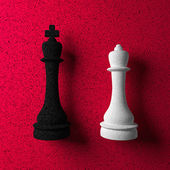 Chessman King and Queen — Stock Photo