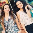 Beautiful shopping girls — Stock Photo #54305577