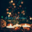 Candles Christmas card — Stock Photo #54747981