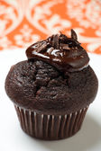 Chocolate muffin with melted chocolate — Stock Photo