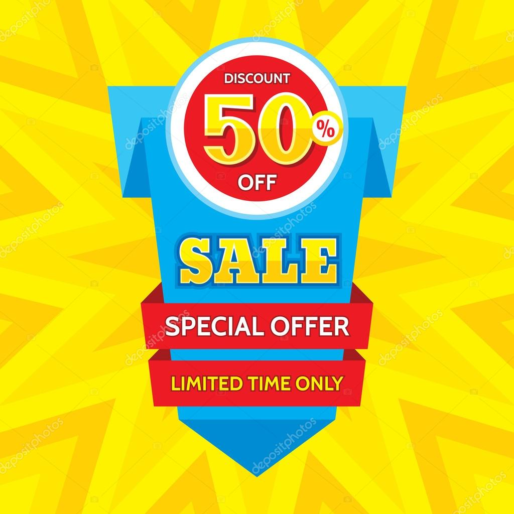 vector banner discount % off special offer origami special offer origami layout limited time only banner design layout background poster discount layout flyer sticker