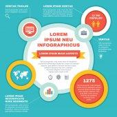 Infographic Business Concept - Vector Scheme — 图库矢量图片
