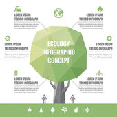 Infographic Business Concept of Ecology with Icons — Stock Vector